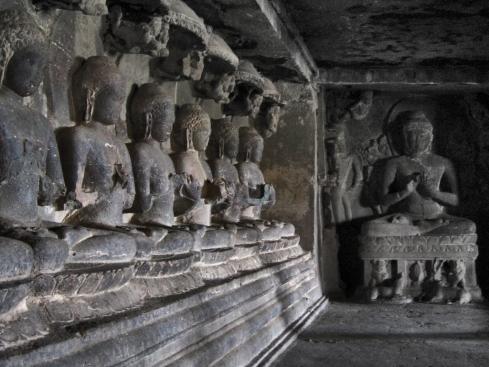 Buddha, Ellora Caves Maharashtra, India