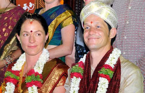 German Couple Hindu Marriage