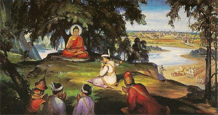 King Bimbisara and the Buddha