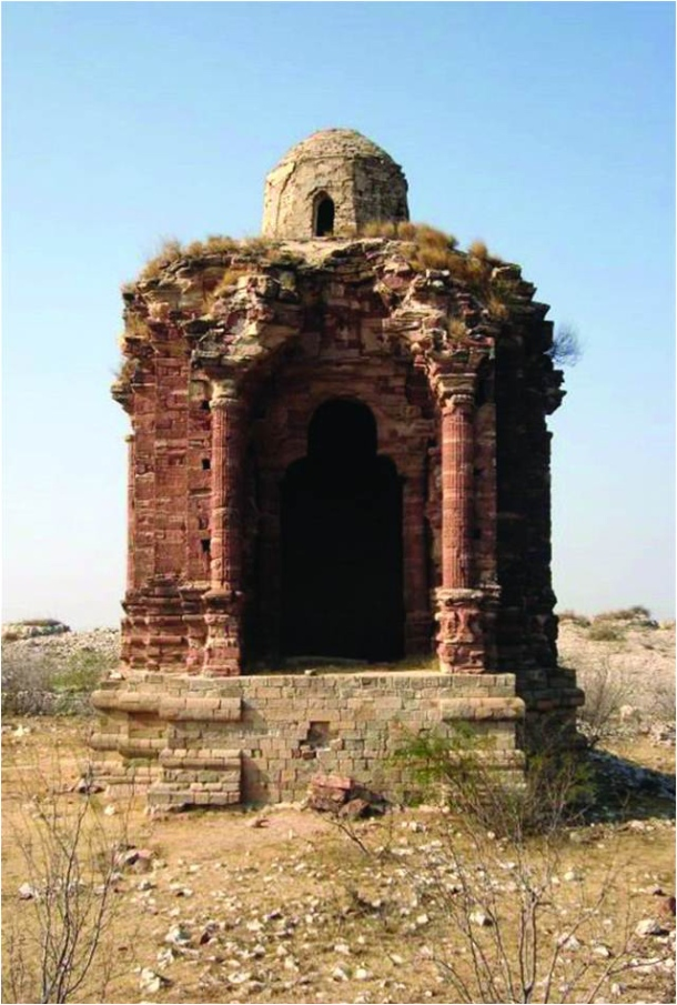 Large-Ruins of a Hindu temple near the Salt Range