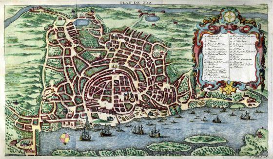 Plan de Goa, in Histoire générale des voyages, 1750