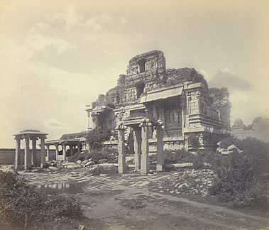 Ruins of Krishna Temple, Vijayanagara, India