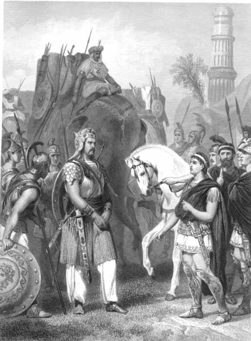 Surrender of Indian King Porus to the Emperor Alexander
