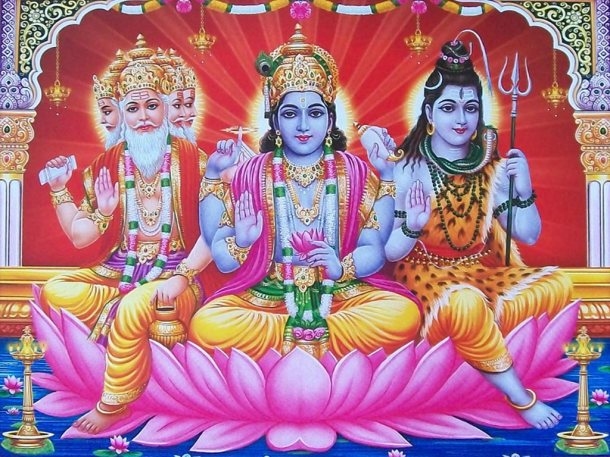 The-Hindu-Holy-Trinity-Brahma-Vishnu-and-Shiva
