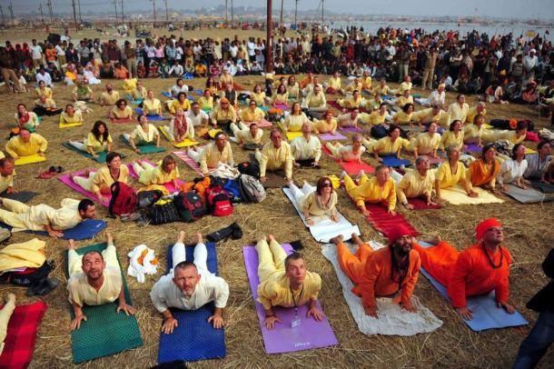 Yoga at Kumbha Mela