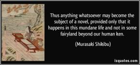 #DailyBookQuote 28Nov13  : Murasaki Shikibu's The Tale ofGenji