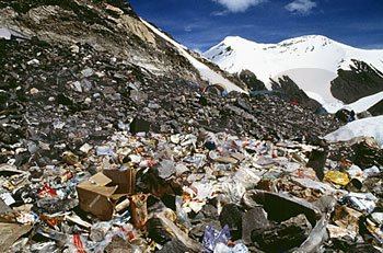 Garbage on Mount Everest