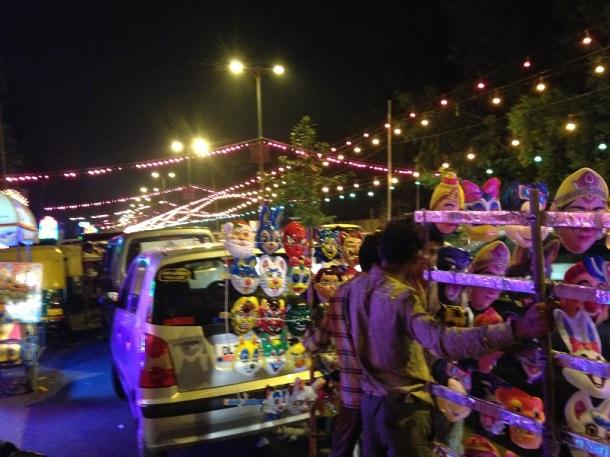 Durga Puja in Delhi - The Mask Man