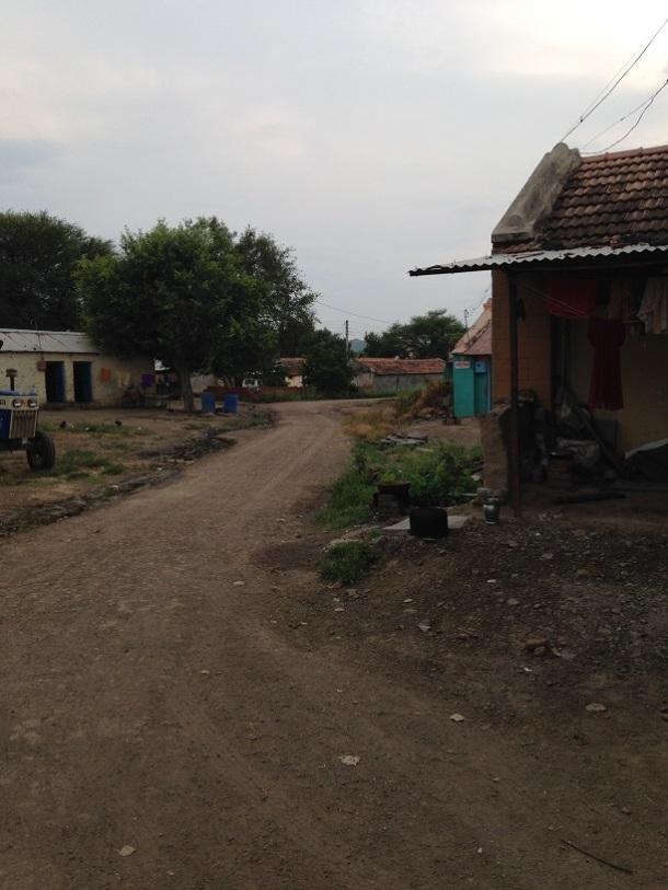 Rural Maharashtra - empty village street